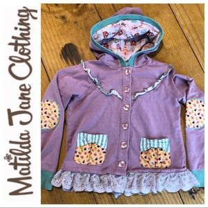 Matilda Jane hooded sweatshirt cardigan